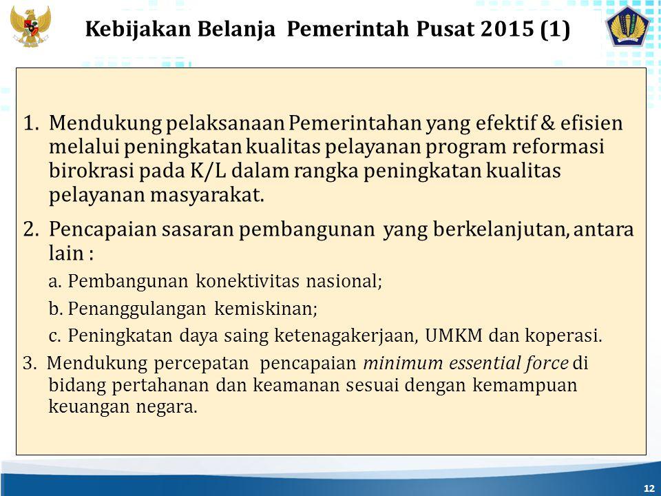 Kebijakan Belanja Pemerintah Pusat 2015 (1)