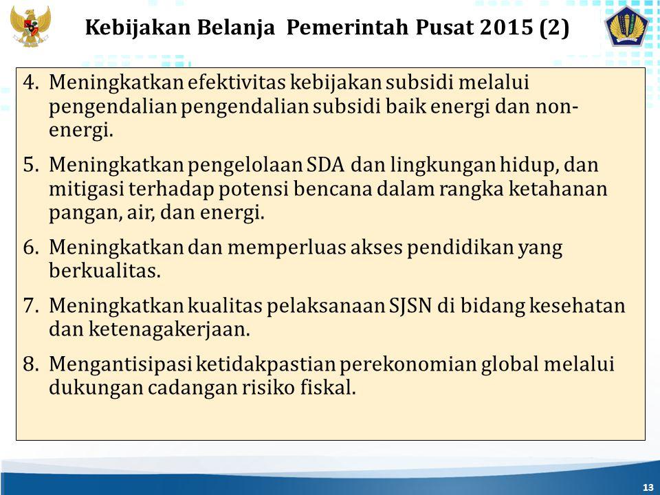 Kebijakan Belanja Pemerintah Pusat 2015 (2)