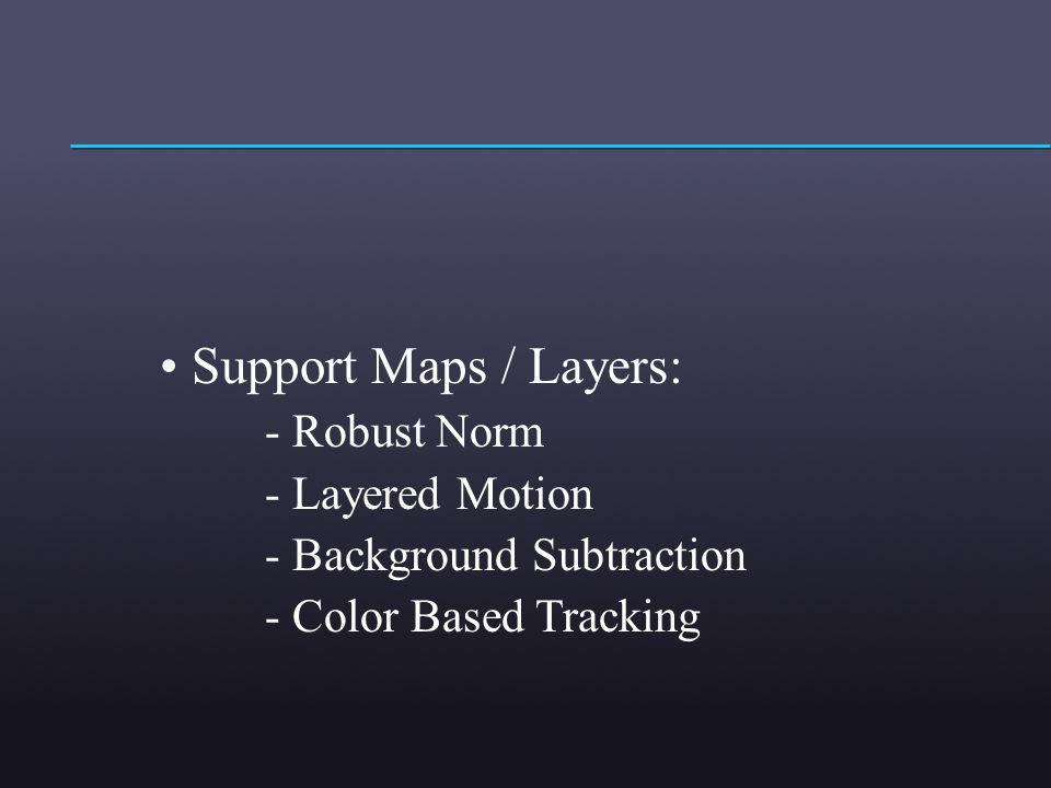 Support Maps / Layers: - Robust Norm - Layered Motion