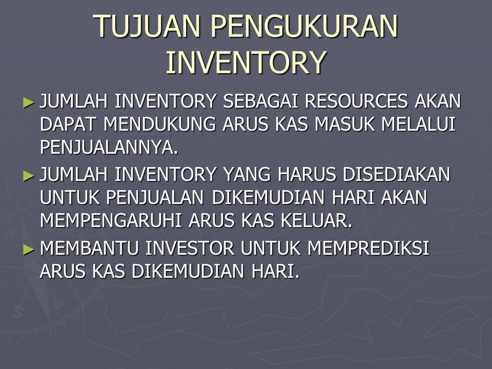 TUJUAN PENGUKURAN INVENTORY