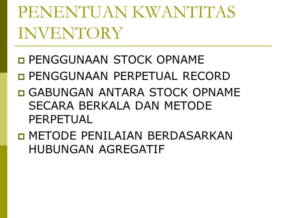 PENENTUAN KWANTITAS INVENTORY