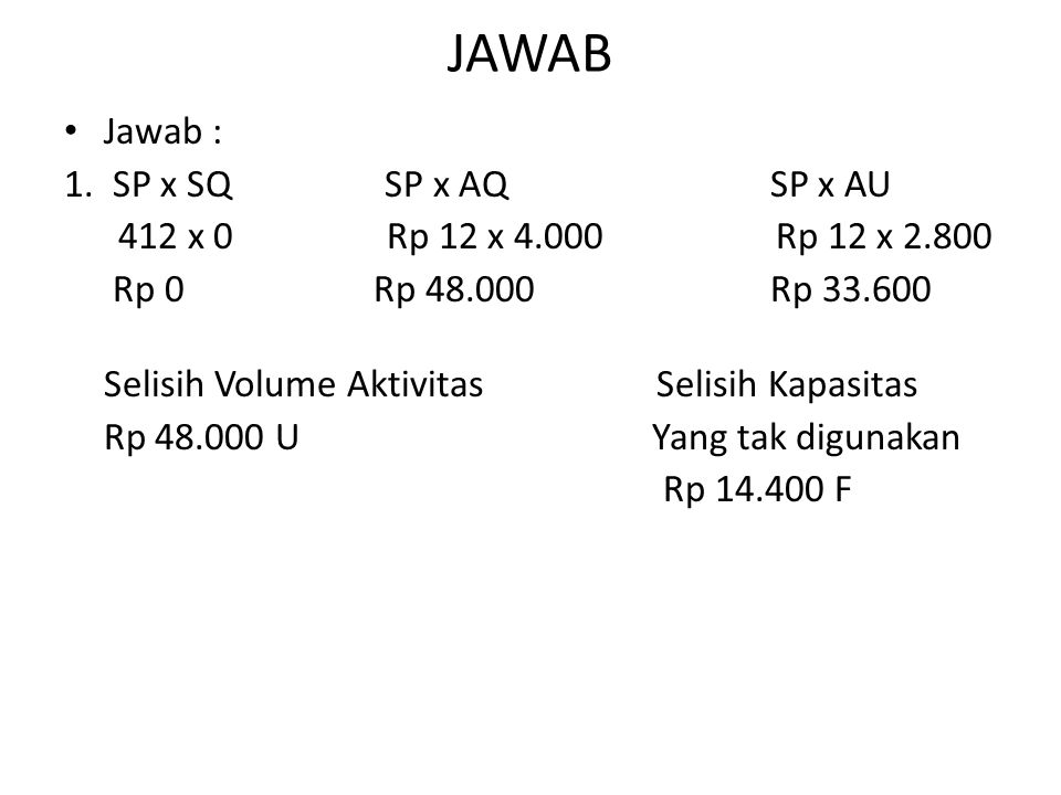 JAWAB Jawab : 1. SP x SQ SP x AQ SP x AU