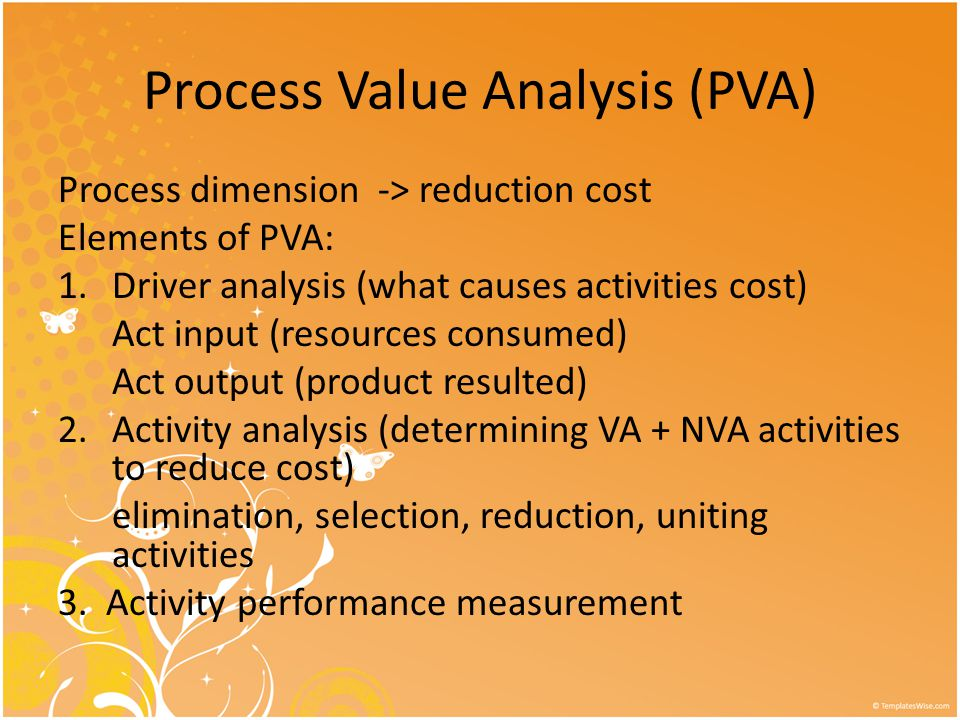 Process Value Analysis (PVA)
