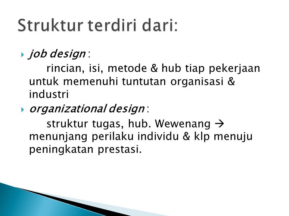 Struktur terdiri dari: