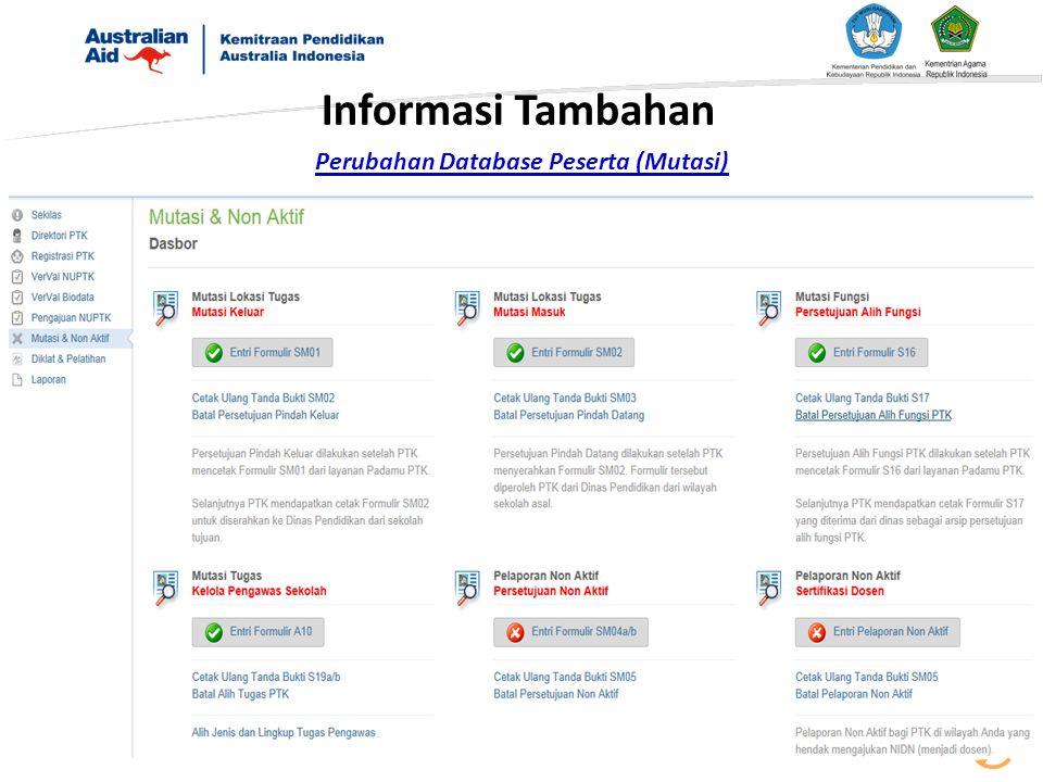 Perubahan Database Peserta (Mutasi)