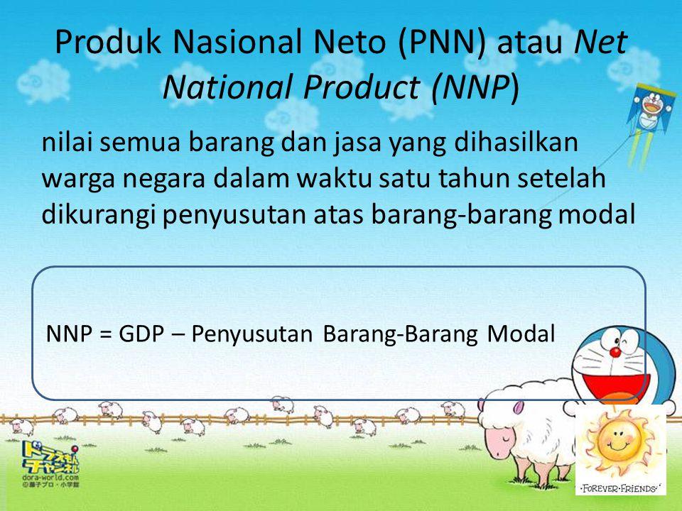 Produk Nasional Neto (PNN) atau Net National Product (NNP)