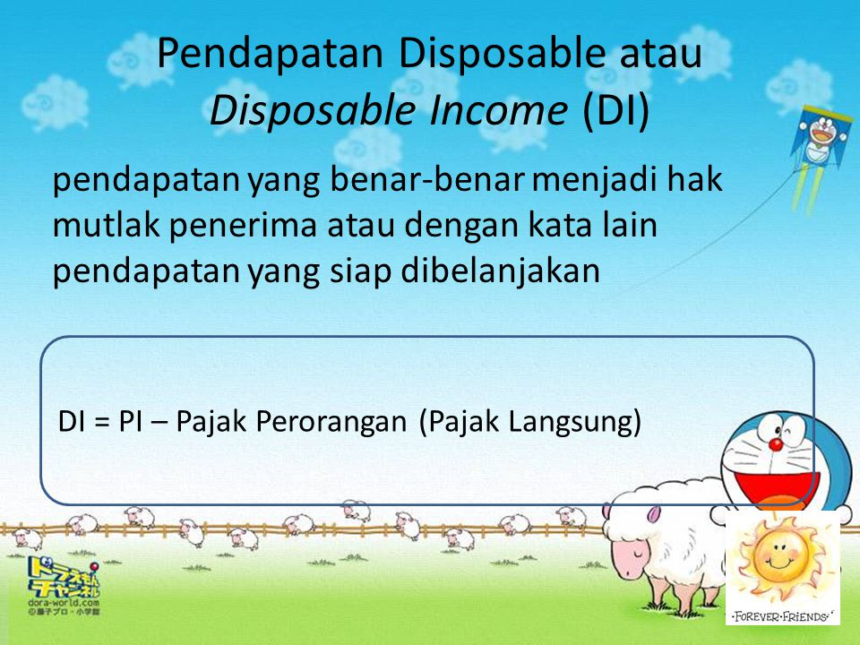 Pendapatan Disposable atau Disposable Income (DI)