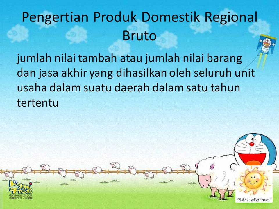 Pengertian Produk Domestik Regional Bruto