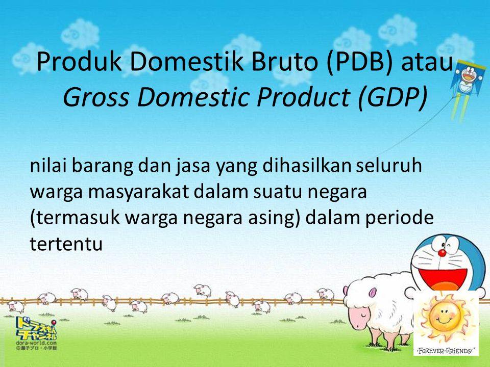 Produk Domestik Bruto (PDB) atau Gross Domestic Product (GDP)