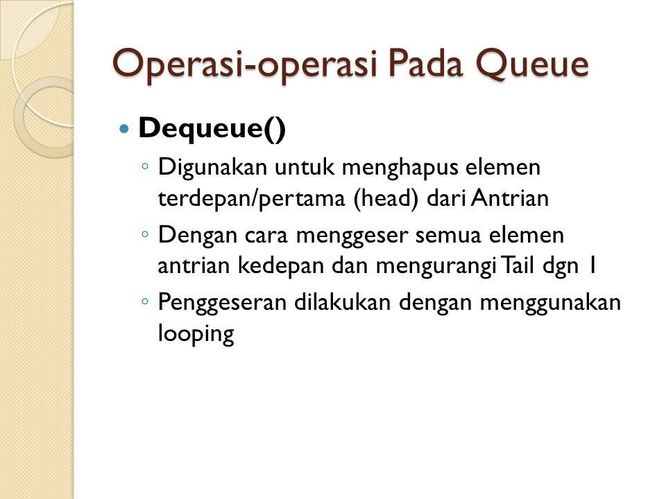 Operasi-operasi Pada Queue