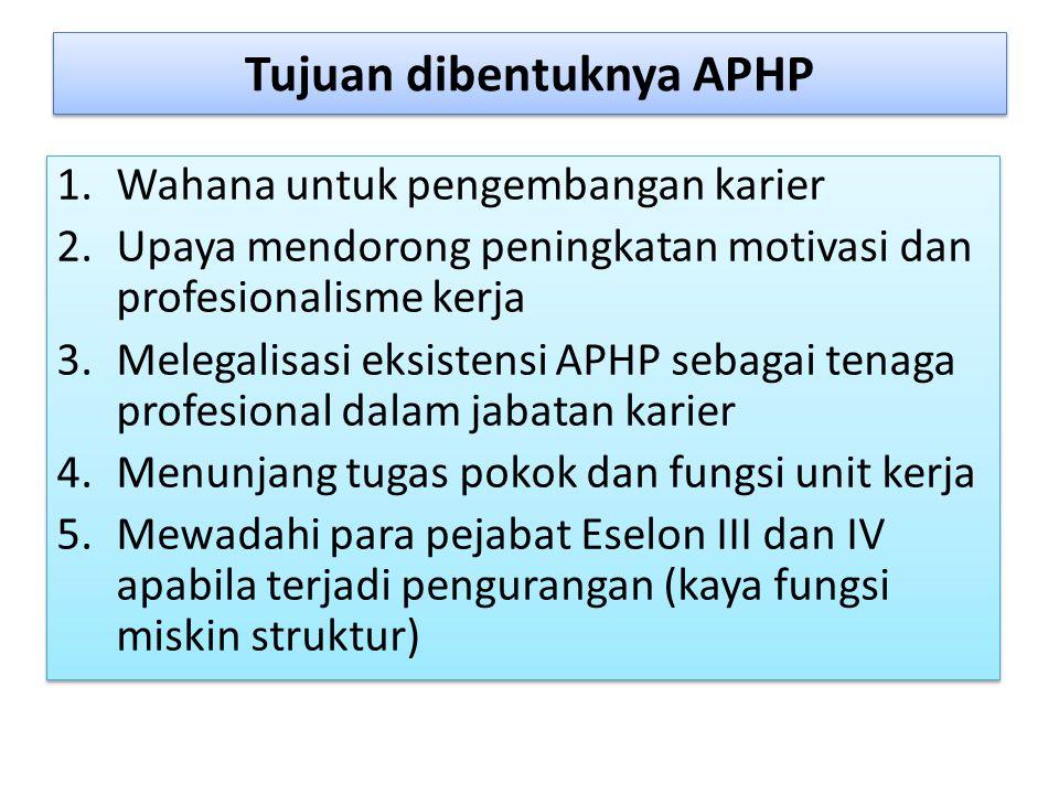 Tujuan dibentuknya APHP