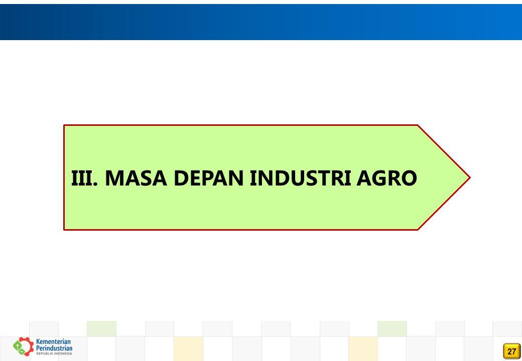III. MASA DEPAN INDUSTRI AGRO
