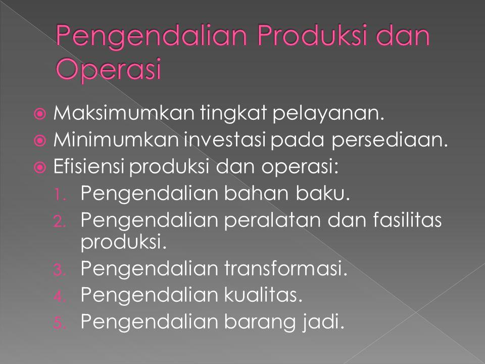 Pengendalian Produksi dan Operasi
