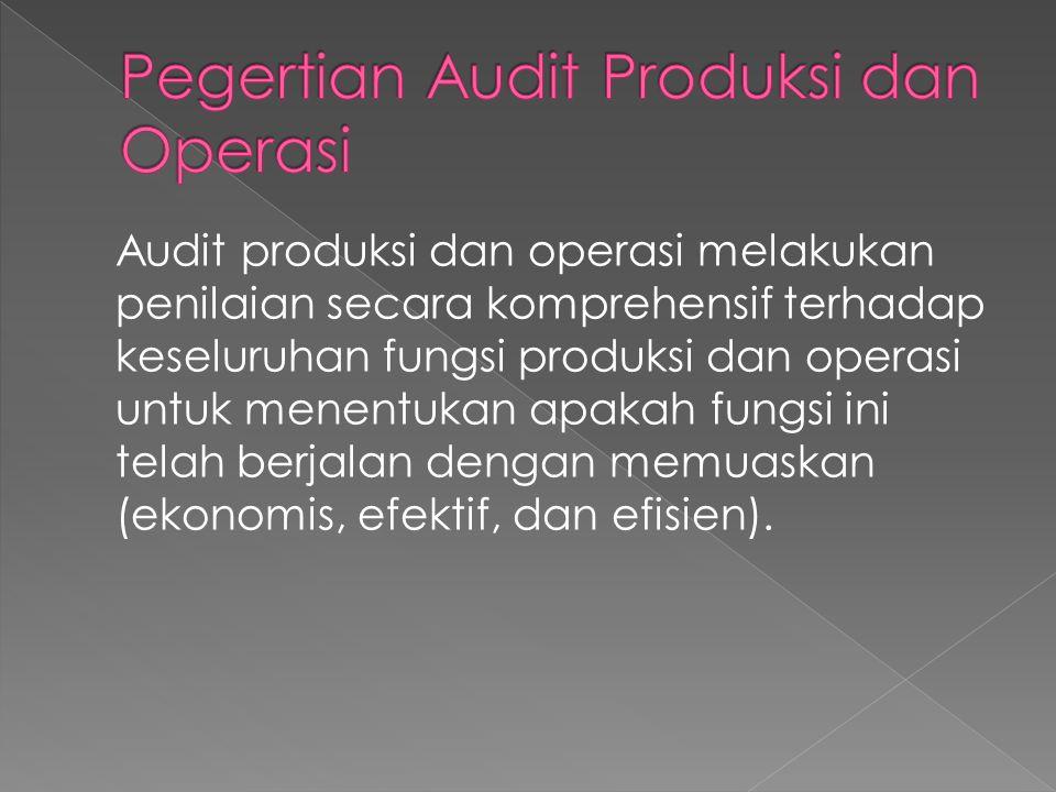 Pegertian Audit Produksi dan Operasi