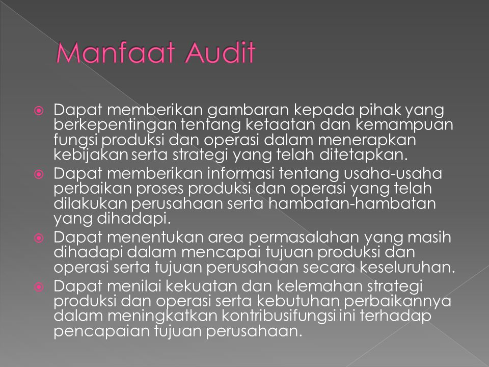 Manfaat Audit