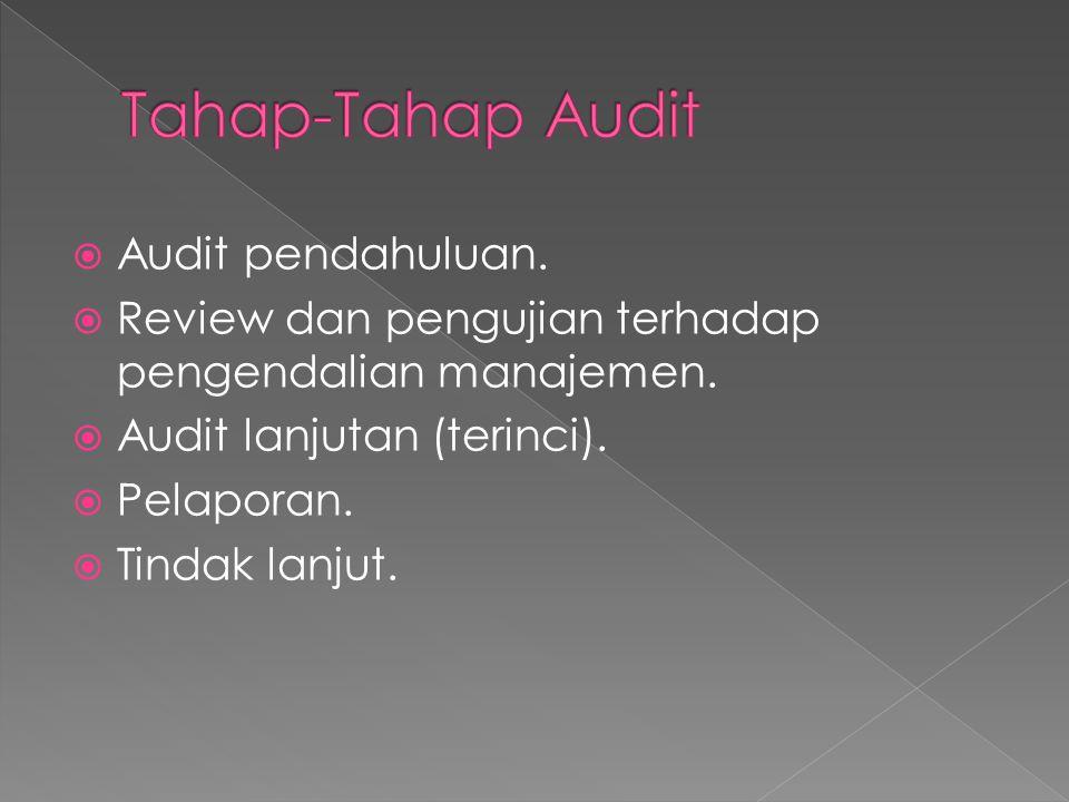 Tahap-Tahap Audit Audit pendahuluan.