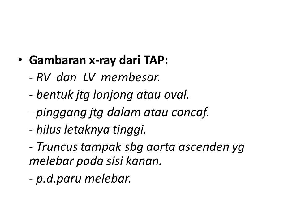 Gambaran x-ray dari TAP: