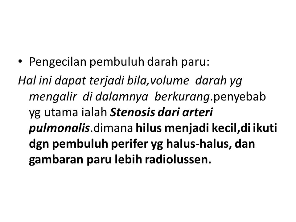 Pengecilan pembuluh darah paru: