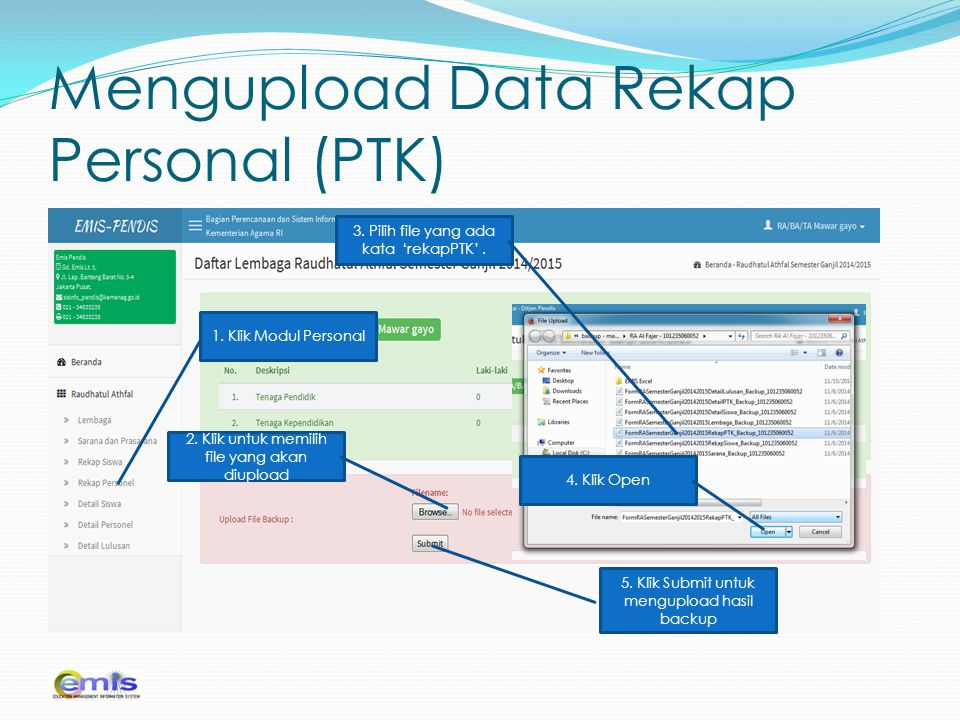 Mengupload Data Rekap Personal (PTK)
