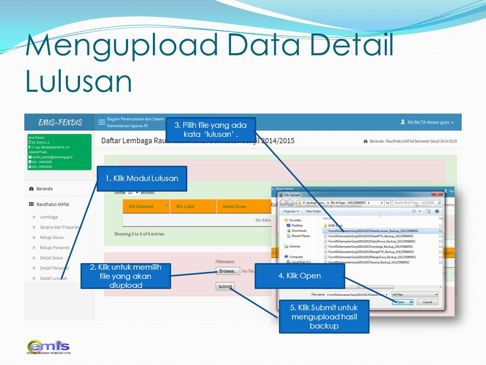 Mengupload Data Detail Lulusan