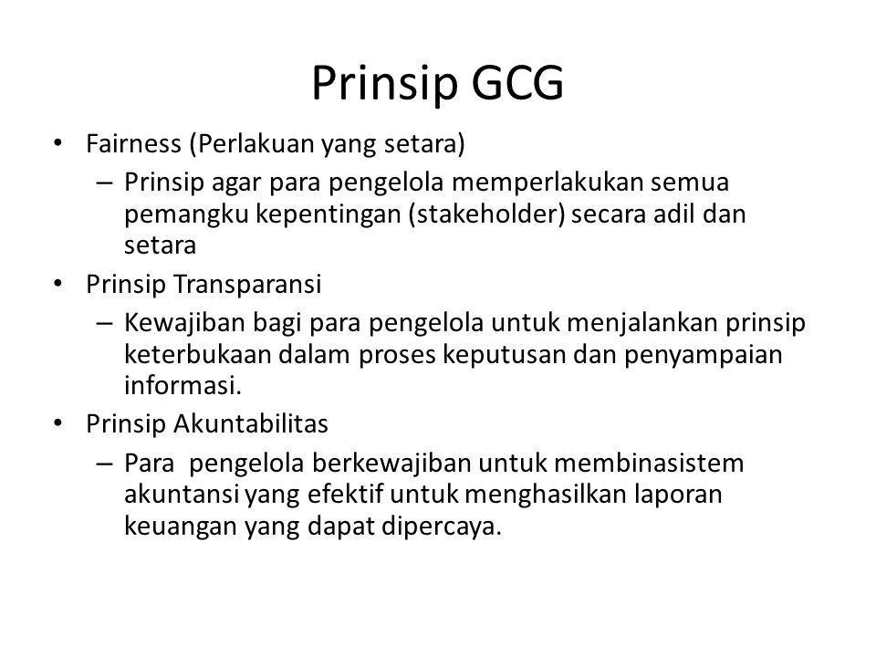 Prinsip GCG Fairness (Perlakuan yang setara)