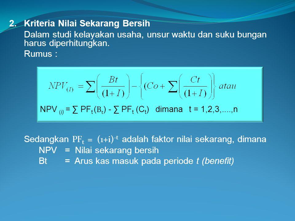 2. Kriteria Nilai Sekarang Bersih