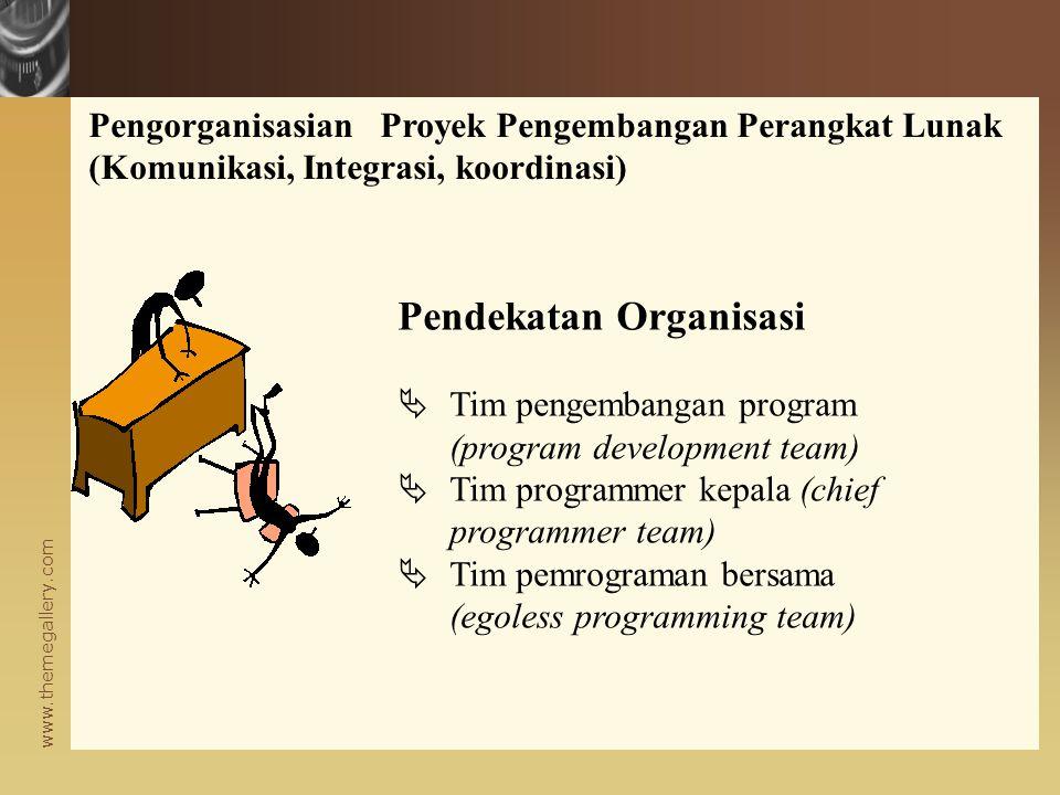 Pendekatan Organisasi
