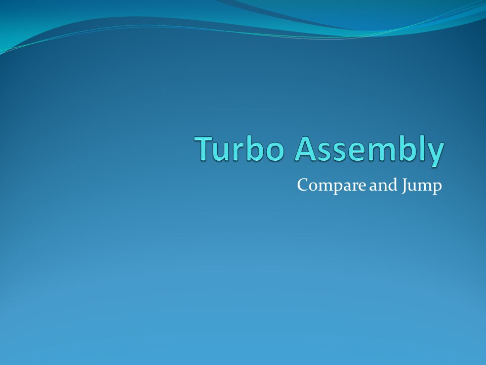 Turbo Assembly Compare and Jump