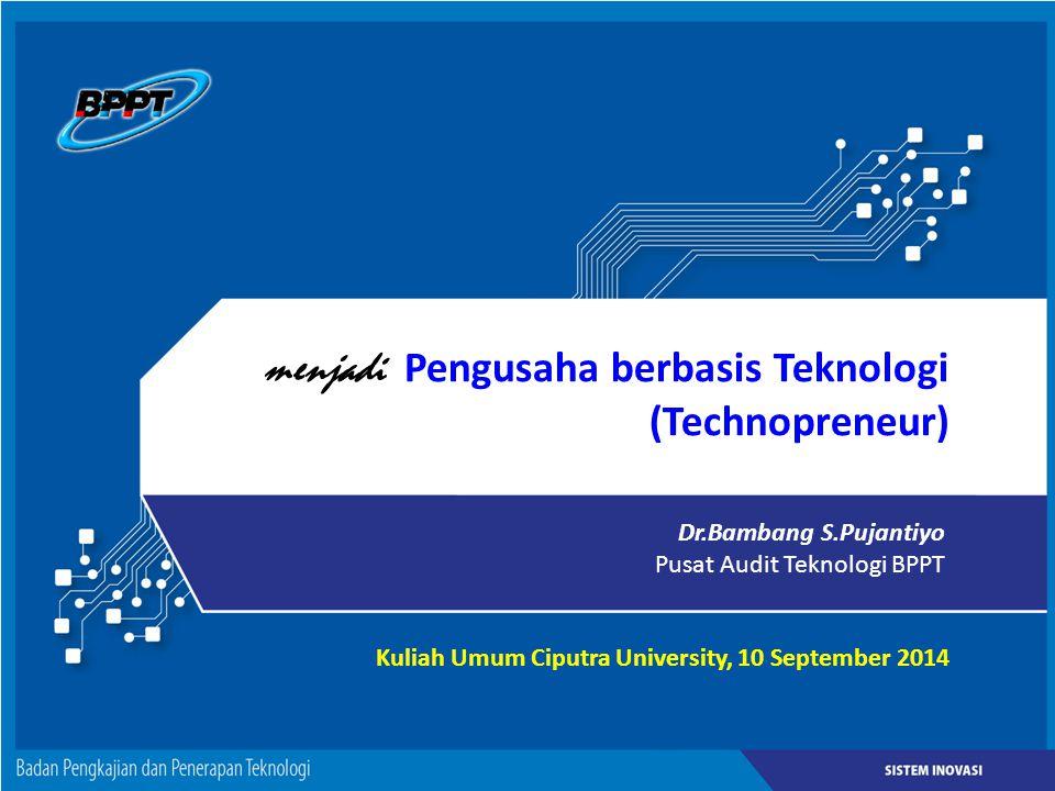 menjadi Pengusaha berbasis Teknologi (Technopreneur)