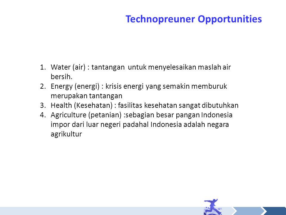 Technopreuner Opportunities