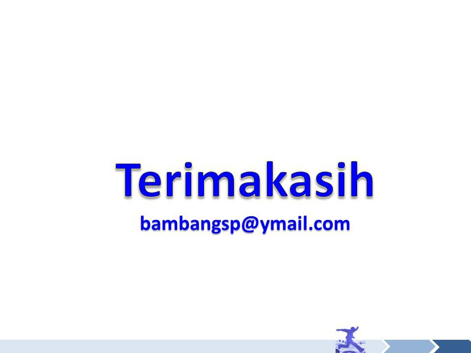 Terimakasih bambangsp@ymail.com