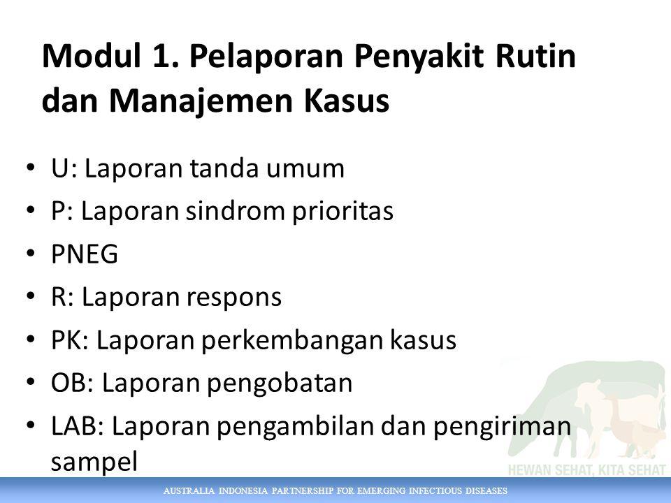Modul 1. Pelaporan Penyakit Rutin dan Manajemen Kasus