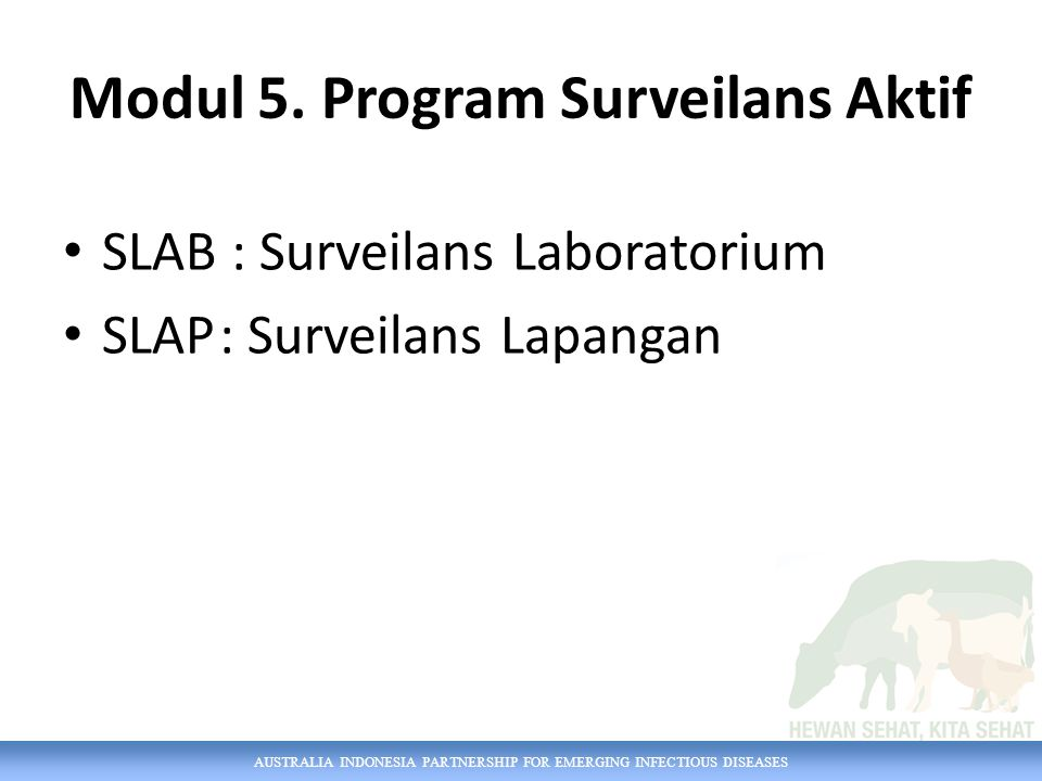 Modul 5. Program Surveilans Aktif
