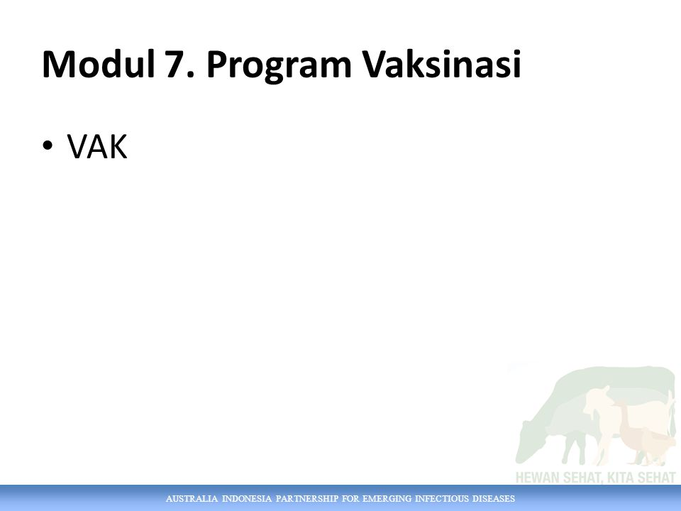 Modul 7. Program Vaksinasi