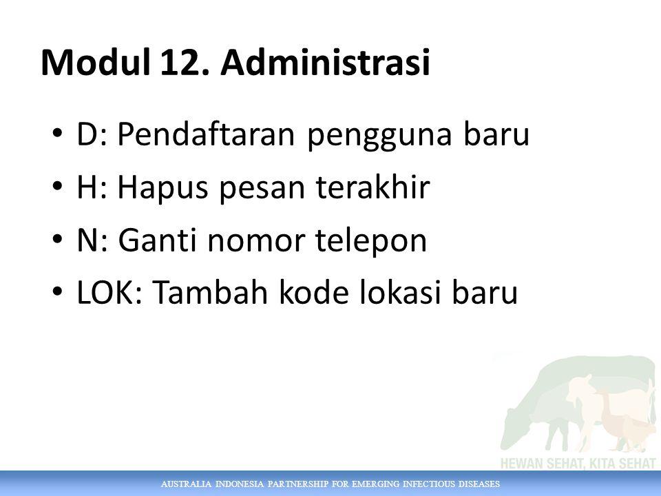 Modul 12. Administrasi D: Pendaftaran pengguna baru