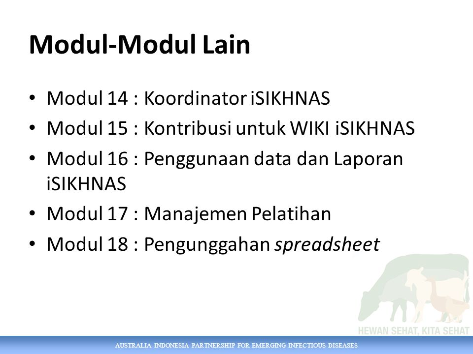 Modul-Modul Lain Modul 14 : Koordinator iSIKHNAS