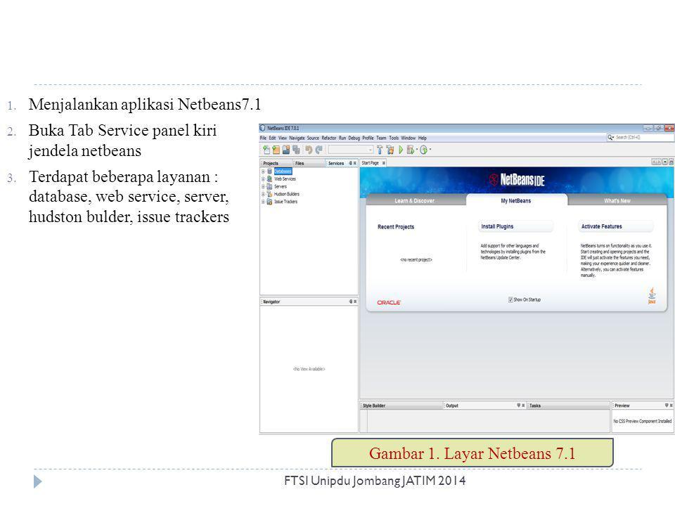 Menjalankan aplikasi Netbeans7.1