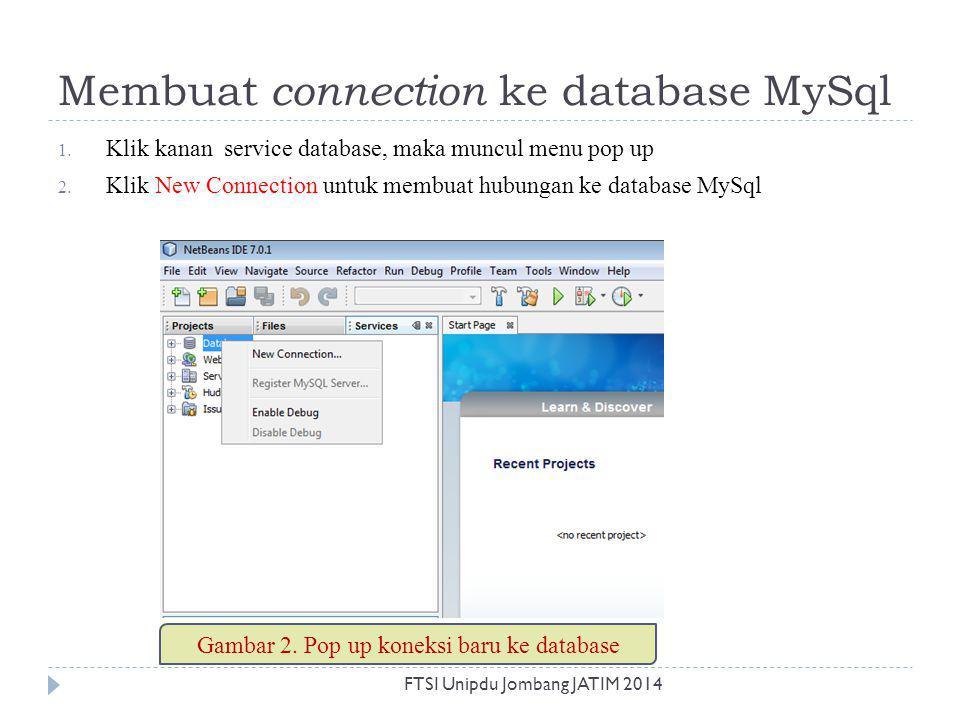 Membuat connection ke database MySql