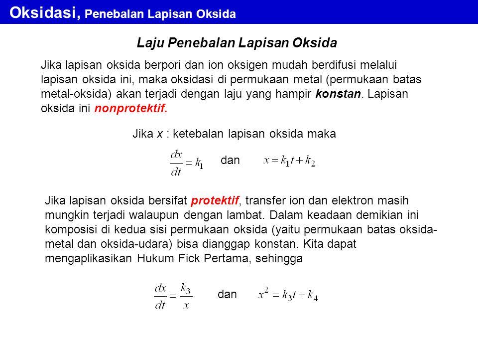 Oksidasi, Penebalan Lapisan Oksida
