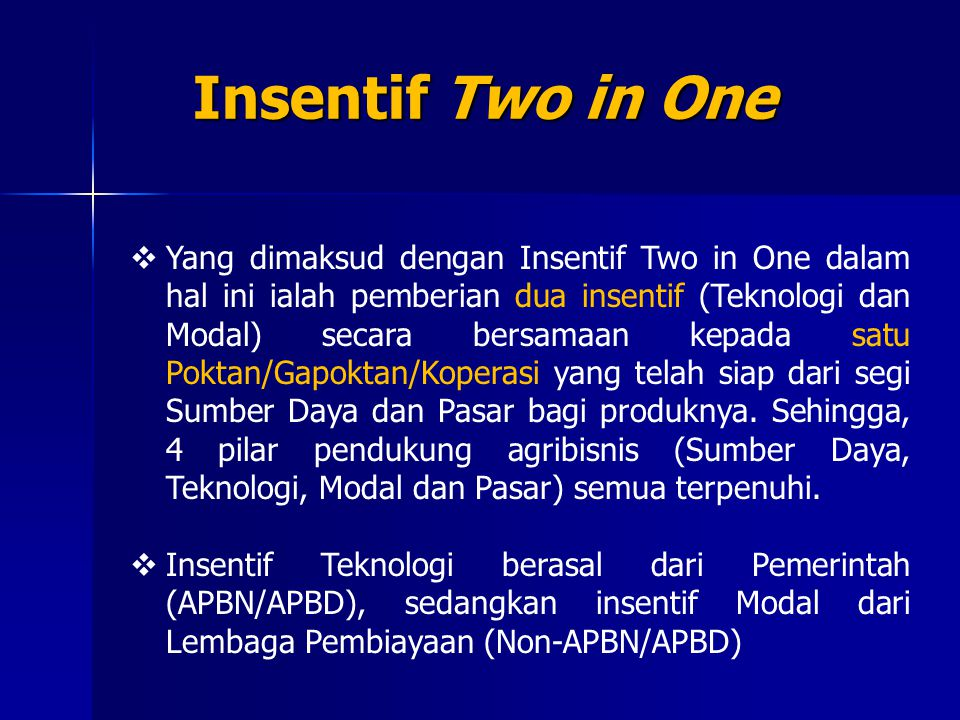 Insentif Two in One