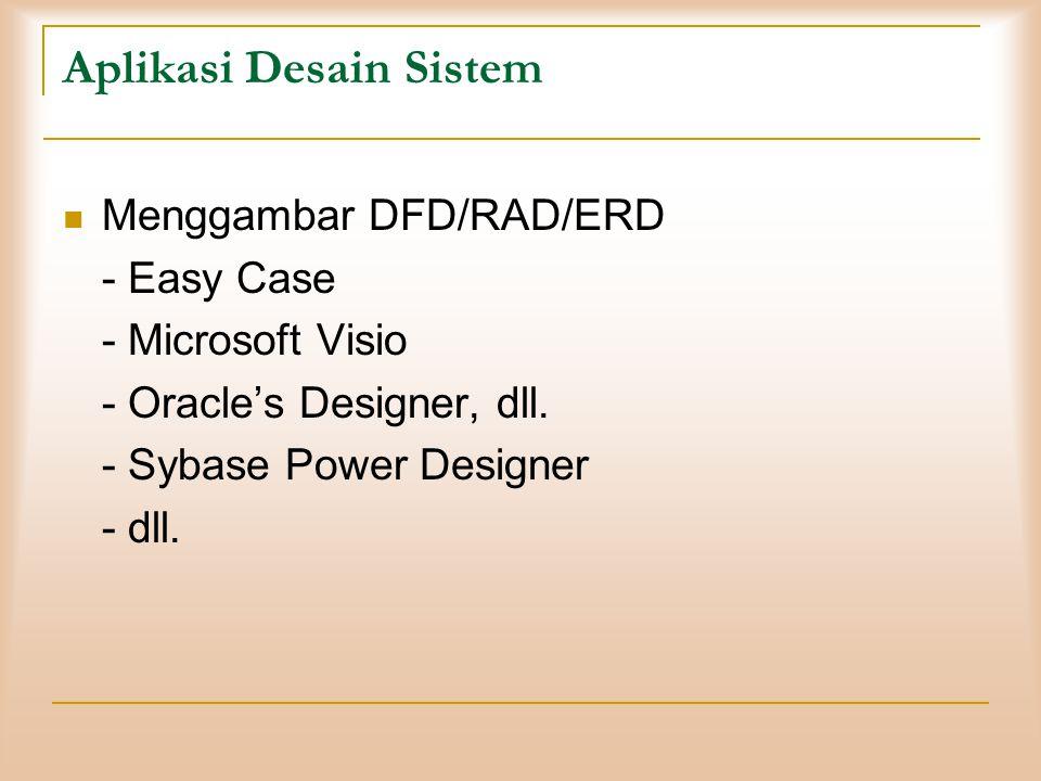 Aplikasi Desain Sistem