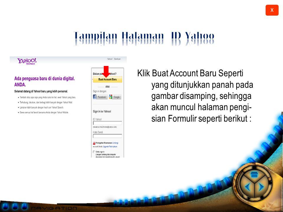 Tampilan Halaman ID Yahoo