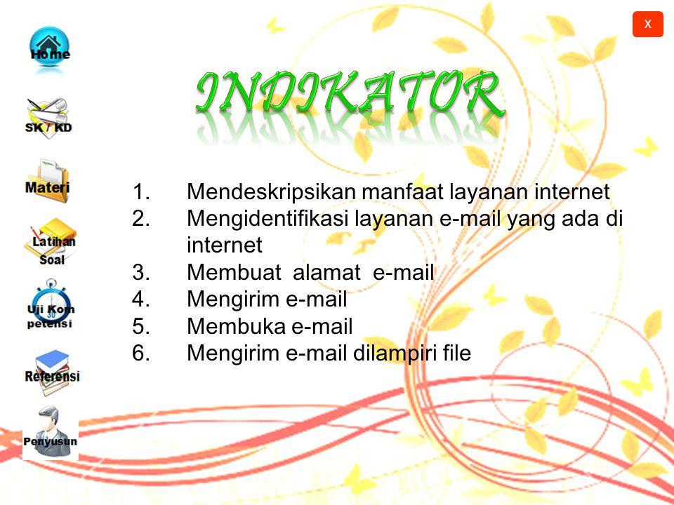 INDIKATOR Mendeskripsikan manfaat layanan internet