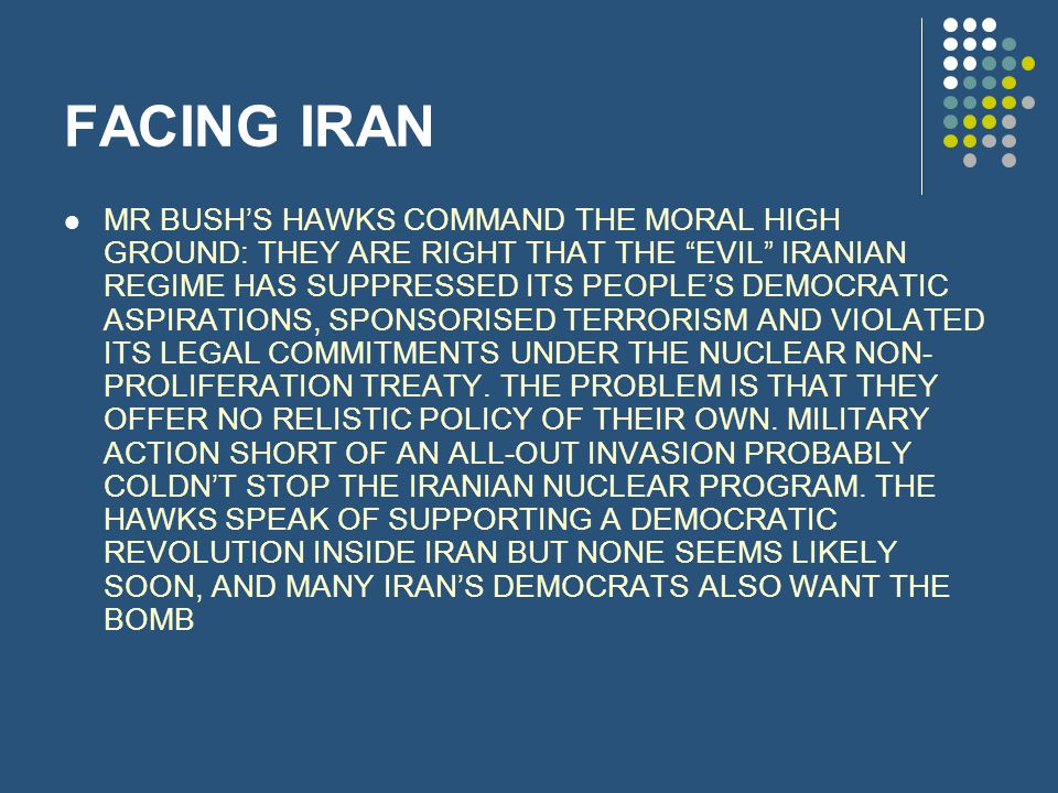 FACING IRAN