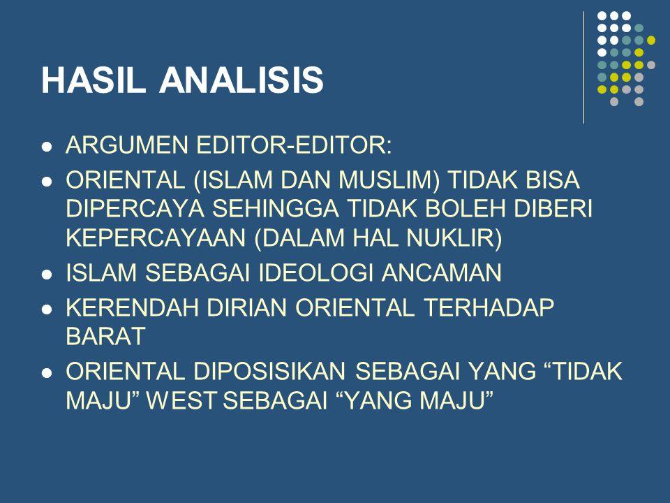 HASIL ANALISIS ARGUMEN EDITOR-EDITOR:
