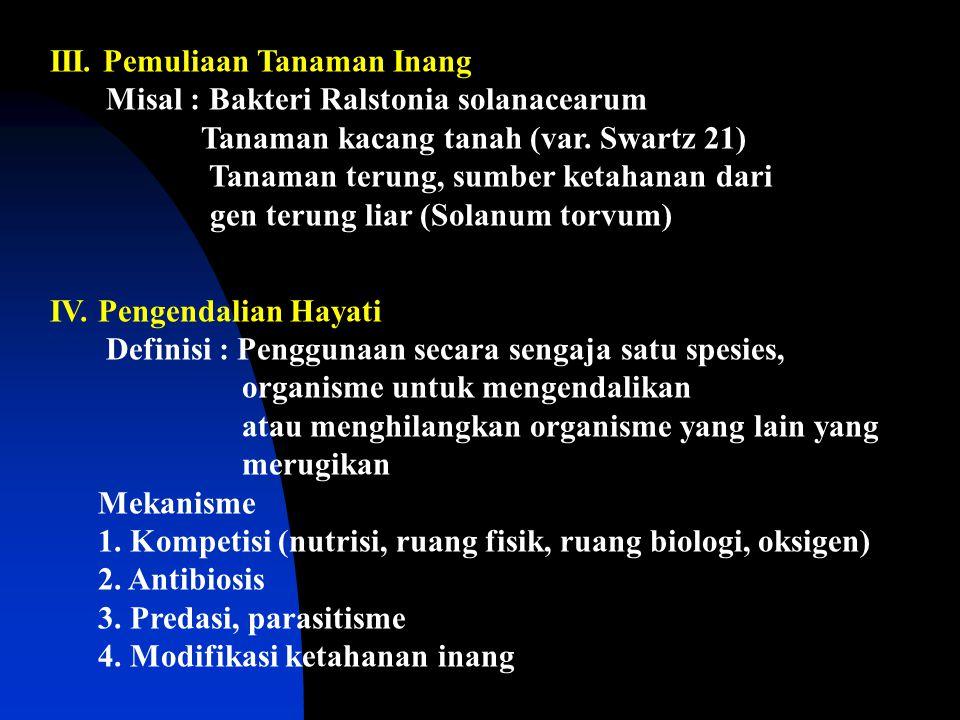III. Pemuliaan Tanaman Inang