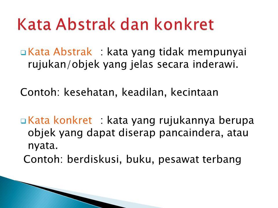 Kata Abstrak dan konkret
