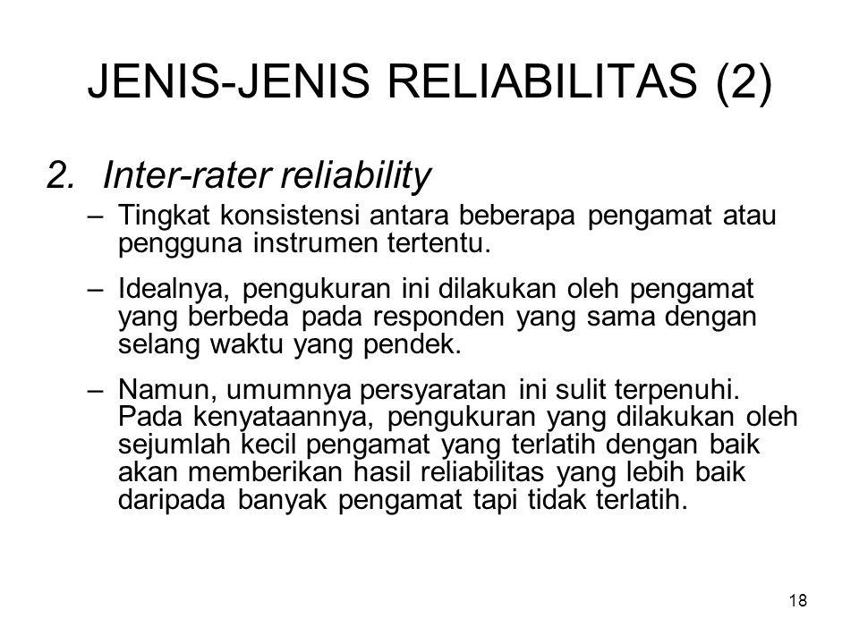 JENIS-JENIS RELIABILITAS (2)