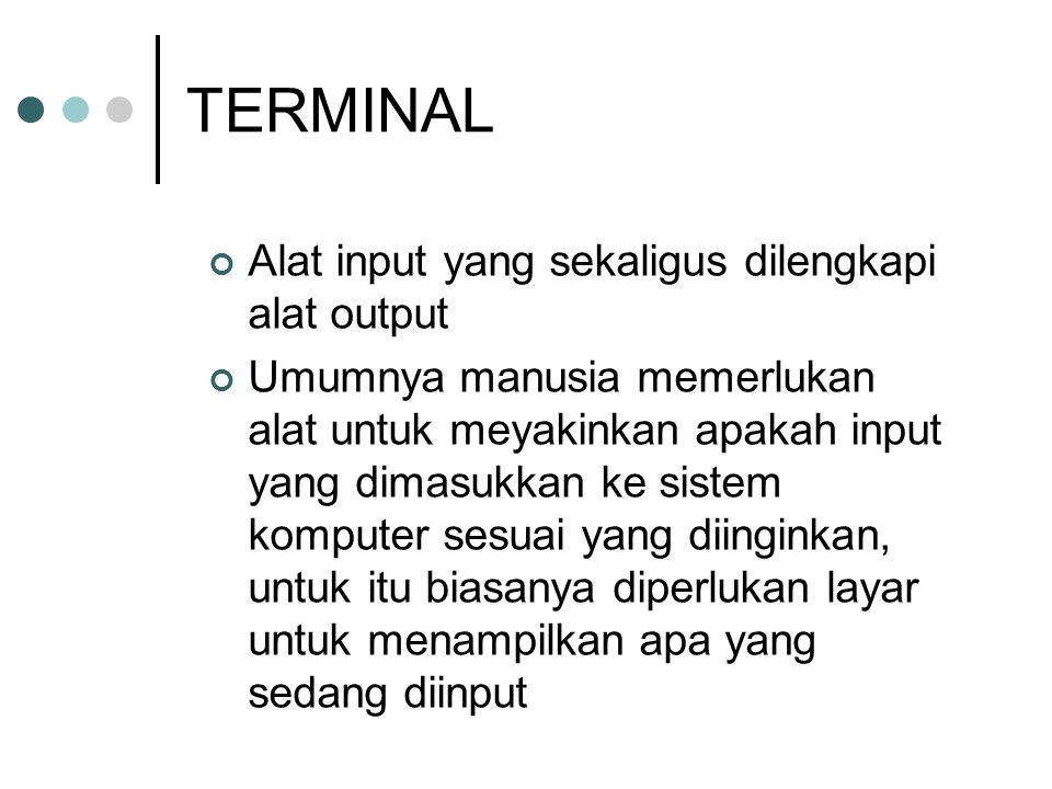 TERMINAL Alat input yang sekaligus dilengkapi alat output