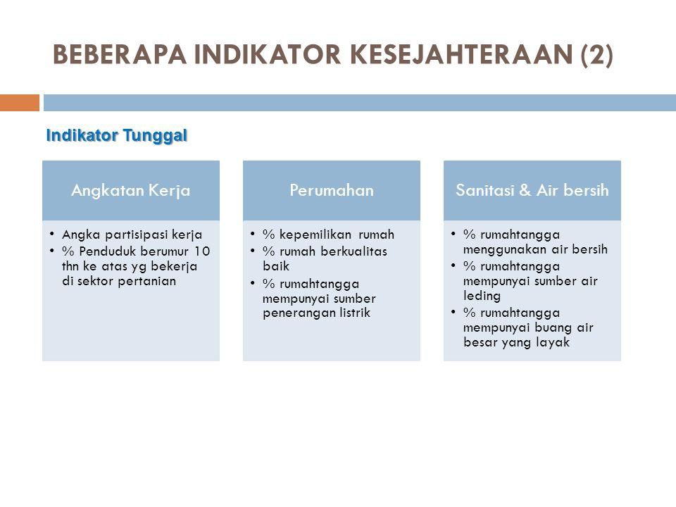 BEBERAPA INDIKATOR KESEJAHTERAAN (2)